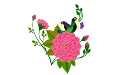 وکتور گل و بلبل