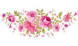 فایل png گل های صورتی