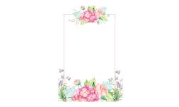 فایل png قاب گل های یاسی