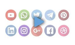 موشن گرافیک 10 آیکن شبکه های اجتماعی 1