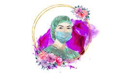فایل لایه باز بنر پزشک زن 1